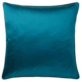 Silk and Cotton Cushion Cover, Large - Blue Topaz (51 x 51cm)