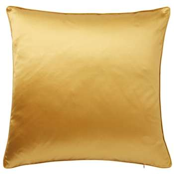 Silk and Cotton Cushion Cover, Large - Citrine (51 x 51cm)