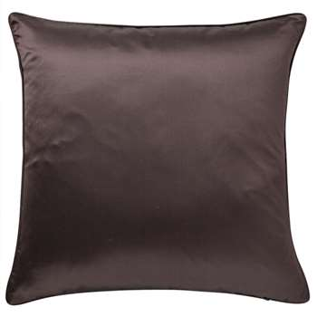 Silk and Cotton Cushion Cover, Large - Hematite (51 x 51cm)