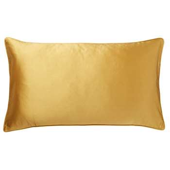Silk and Cotton Cushion Cover, Small - Citrine (35 x 60cm)