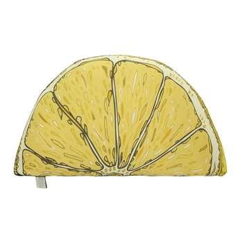 Silken Favours - Lemon Silk Shaped Cushion (30 x 50cm)