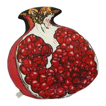 Silken Favours - Pomegranate Silk Shaped Cushion (40 x 44cm)