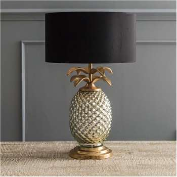 Silver And Gold Pineapple Lamp (H41 x W17 x D17cm)