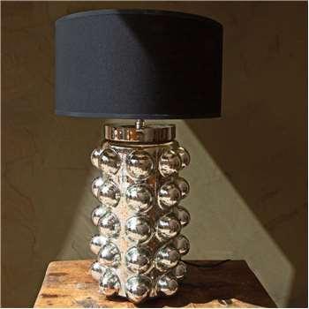 Silver Bobble Table Lamp (H47 x W22 x D22cm)
