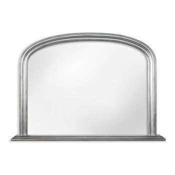 Silver Effect Over Mantel Mirror - 80 x 114cm