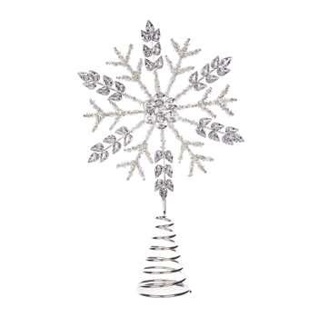 Silver Gem Tree Topper (H28 x W6 x D18cm)
