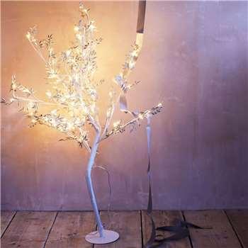 Silver Leaf LED Tree (H95 x W97 x D97cm)