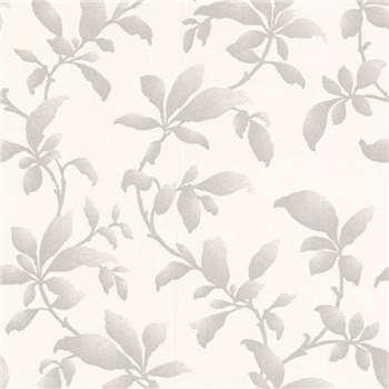 Silver Sarra Premier Wallpaper, White