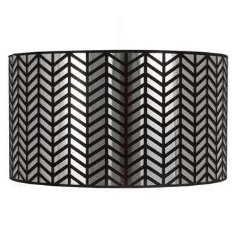 Simi Pendant Light Shade Black (H22.5 x W40 x D40cm)