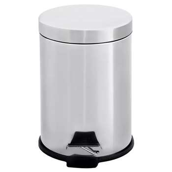 Simple Value 3 Litre Stainless Steel Pedal Bin 25 x 17cm