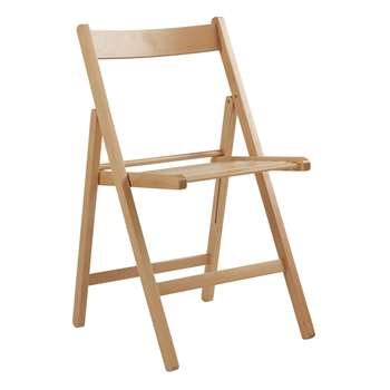Simple Value Wooden Folding Chair - Natural (79 x 42.5cm)