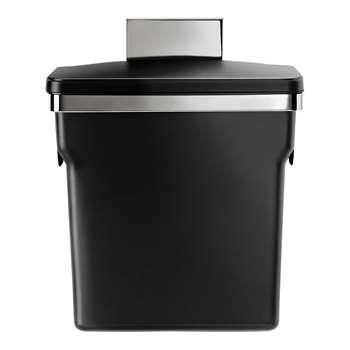 simplehuman 10L In-Cabinet Bin - Black 36.3 x 29.7cm
