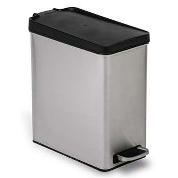 simplehuman 10L Profile Pedal Bin - Stainless Steel 33.8 x 16.8cm