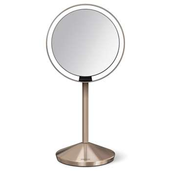 simplehuman - Mini Sensor Mirror - Rose Gold (H23 x W12cm)