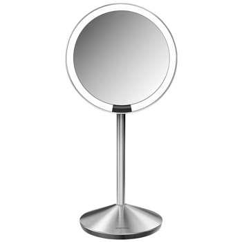 simplehuman Mini Sensor Travel Magnifying Pedestal Mirror 30 x 14.5cm
