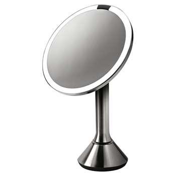 simplehuman Sensor Magnifying Pedestal Mirror