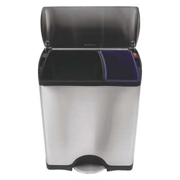 Simplehuman Stainless steel recycling kitchen bin 46l