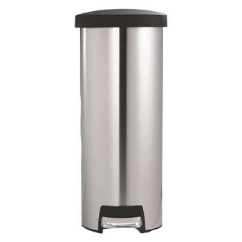 Simplehuman Stainless steel slim rectangular kitchen bin 45l