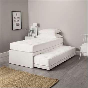 Single Divan & Guest Bed, White (59 x 190m)