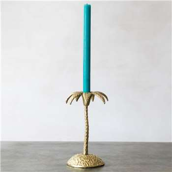 Single Golden Palm Candle Holder (H23 x W13 x D13cm)
