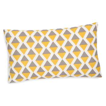 SINTRA cotton cushion cover, grey/yellow, 30 x 50 cm