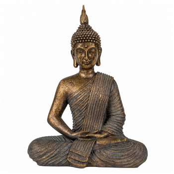Serenity Sitting Buddha - Bronze (H30 x W23 x D10cm)