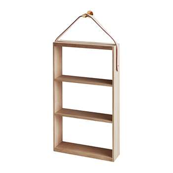 Skagerak - Norr Shelf - Oak/Brass (H76 x W36 x D10cm)