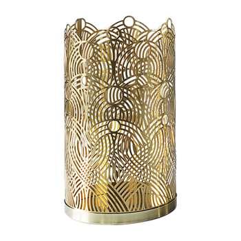 Skultuna - Lunar Candle Holder - Brass - Large (H17 x W10 x D10cm)
