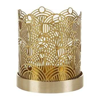 Skultuna - Lunar Candle Holder - Brass - Small (H7 x W6 x D6cm)