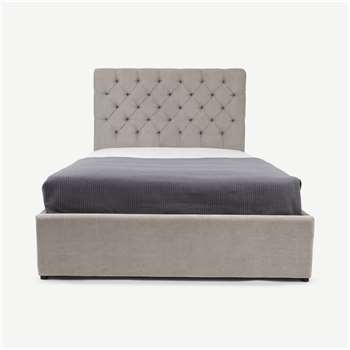Skye Double Ottoman Storage Bed, Owl Grey (H128 x W150 x D213cm)