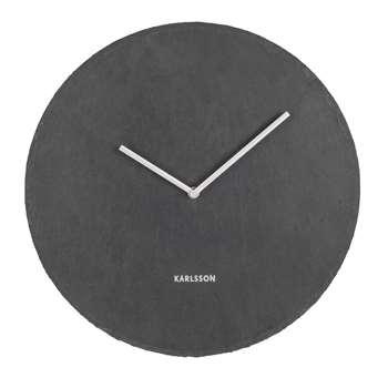 Slate wall clock (H40 x W40 x D4cm)