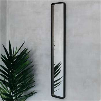 Slim Blackbeam Mirror (H124 x W21 x D8cm)