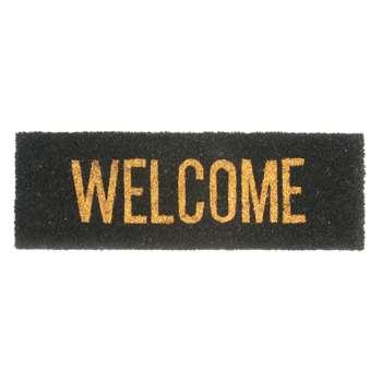 Slim welcome doormat gold (26 x 75cm)