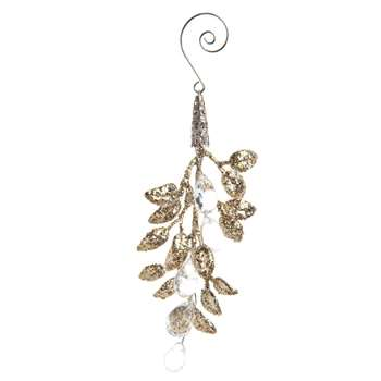 Small Artificial Branch with Gold Glitter (H12 x W6 x D0.5cm)