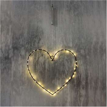 Small Black Heart Light (25 x 30cm)