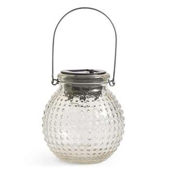 Small Clear Solar Jar Light (13.5 x 11cm)