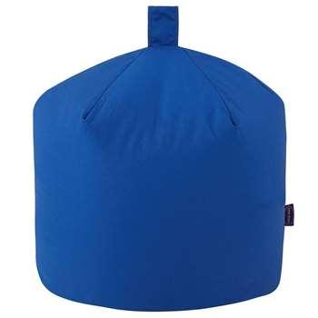 Small Cotton Beanbag, Blue (H50 x W50 x D50cm)
