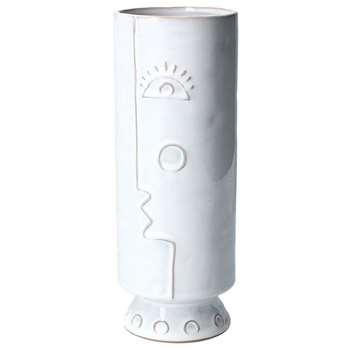 Small Face Ceramic Vase (H27 x W10 x D10cm)