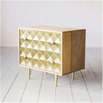 Small Gem Cladded Chest of Drawers (H62 x W58 x D38cm)