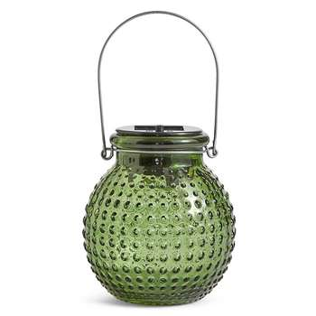 Small Green Solar Jar Light (13.5 x 11cm)