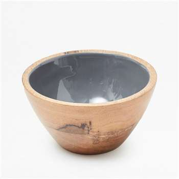 Small Grey Enamel Bowl  - Grey (8 x 15cm)