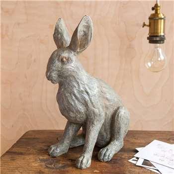 Small Grey Sitting Rabbit (H31 x W21 x D15cm)