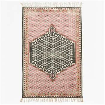 Small Poppy Field Rug - Pink & Grey (H150 x W90cm)