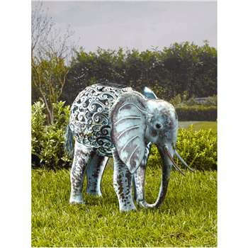 Smart Solar Metal Silhouette Elephant