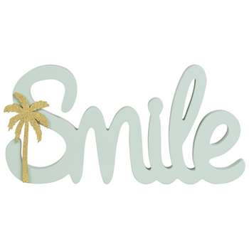 SMILE Decorative Mint Green Word (17.3 x 35cm)