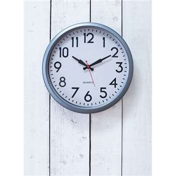 Smithfield Clock, Large in Charcoal - Steel (50 x 50cm)