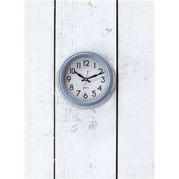 Smithfield Clock, Small in Charcoal - Steel (21.5 x 21.5cm)