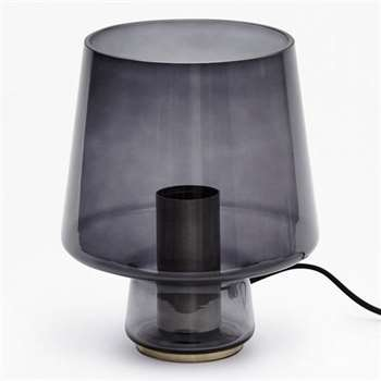 Smoked Table Lamp - Smoked Glass (21 x 18cm)