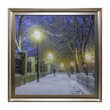 Snowy Night Liquid Art (H80 x W80cm)
