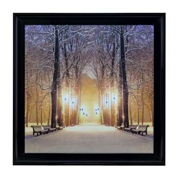 Snowy Walkway Liquid Art (H80 x W80cm)